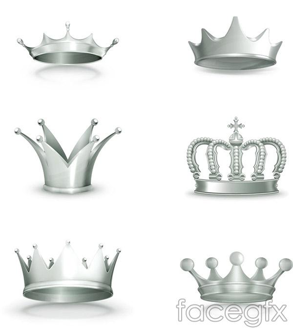 Silver Crown design vector
