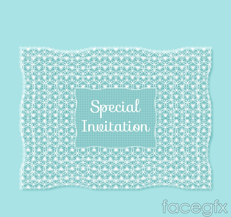 Creative invitation card of lace vector