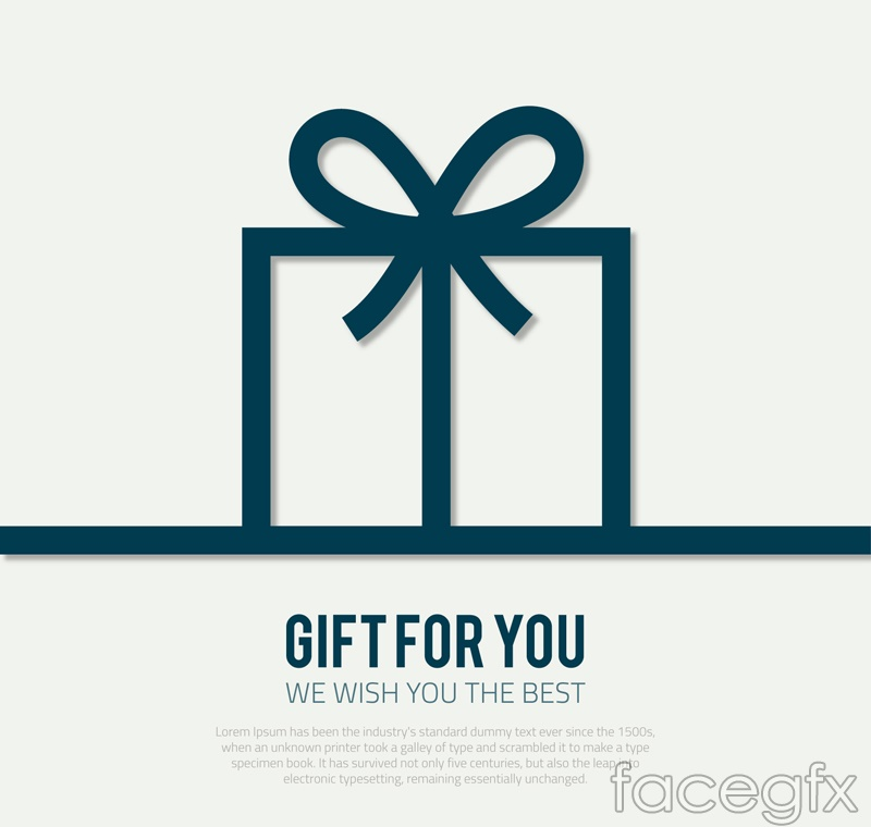 Exquisite gift box gift card vector