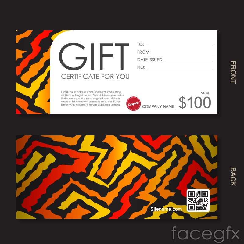Fashion gift vouchers vector