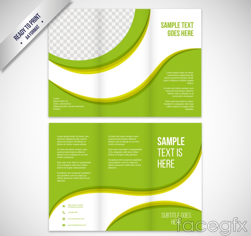Fashion green brochure page 30 percent vector graphics