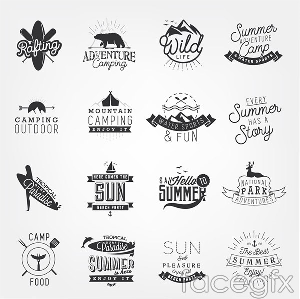 Outdoor sports icons vector