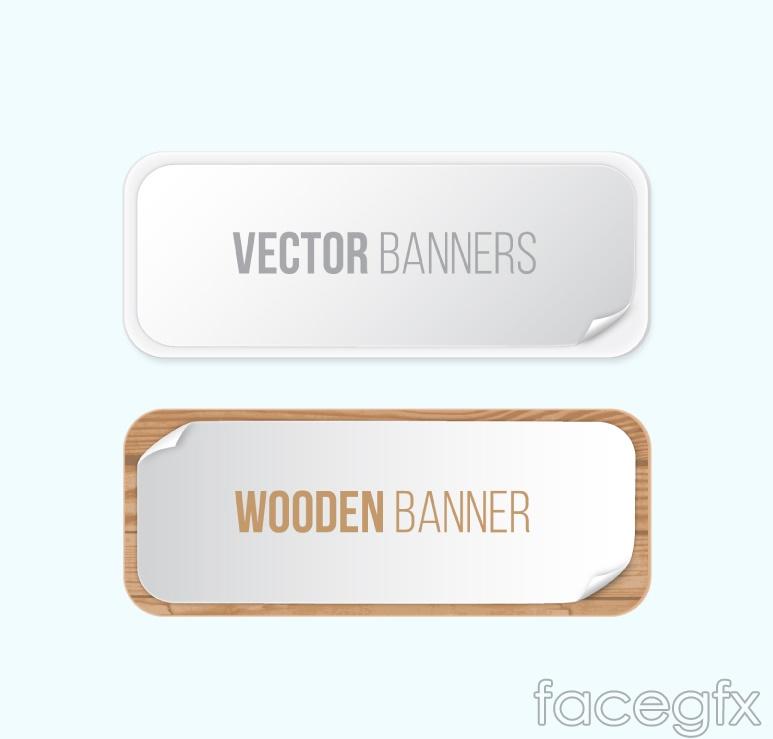 2 creative banner vector