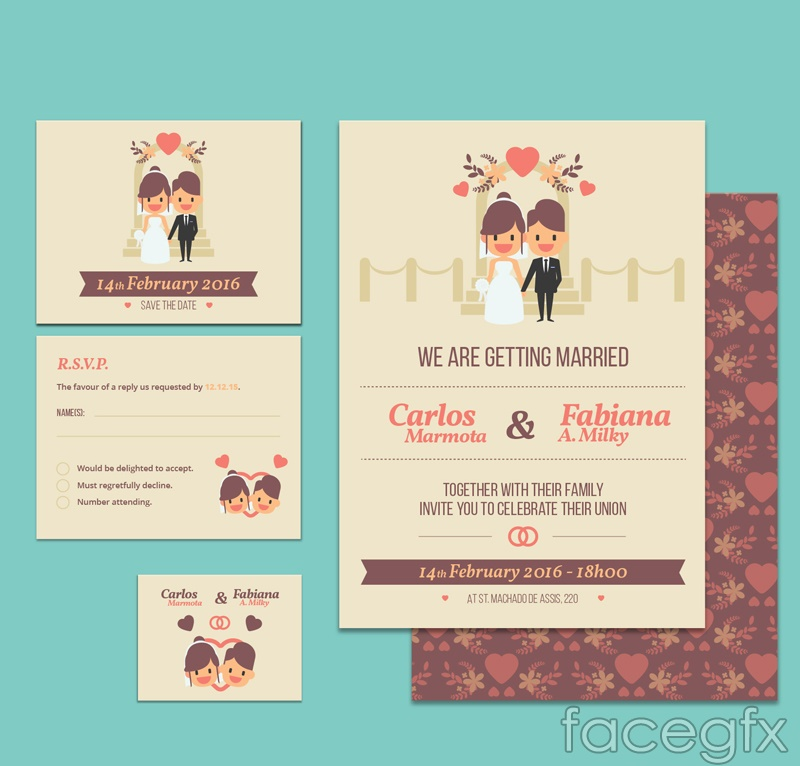 3 wedding invitation kazheng opposite of vector graph