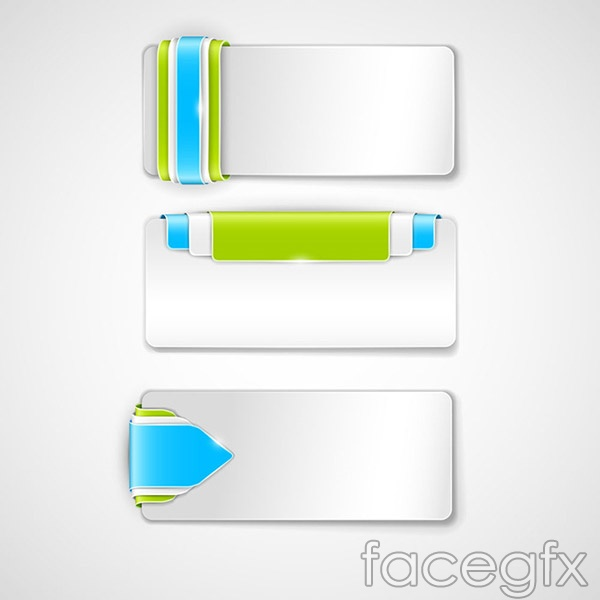 Beautiful button banners vector