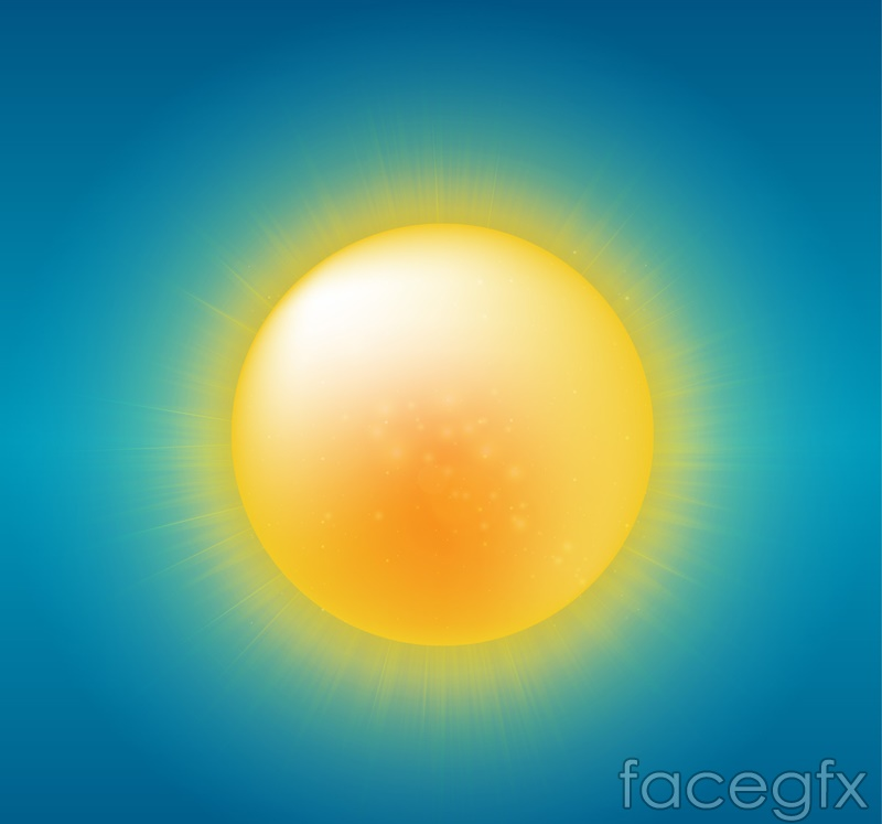 Cartoon summer sun vector