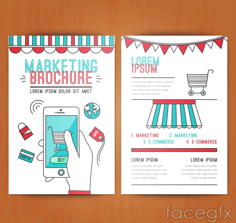 Creative marketing brochure vector graphics
