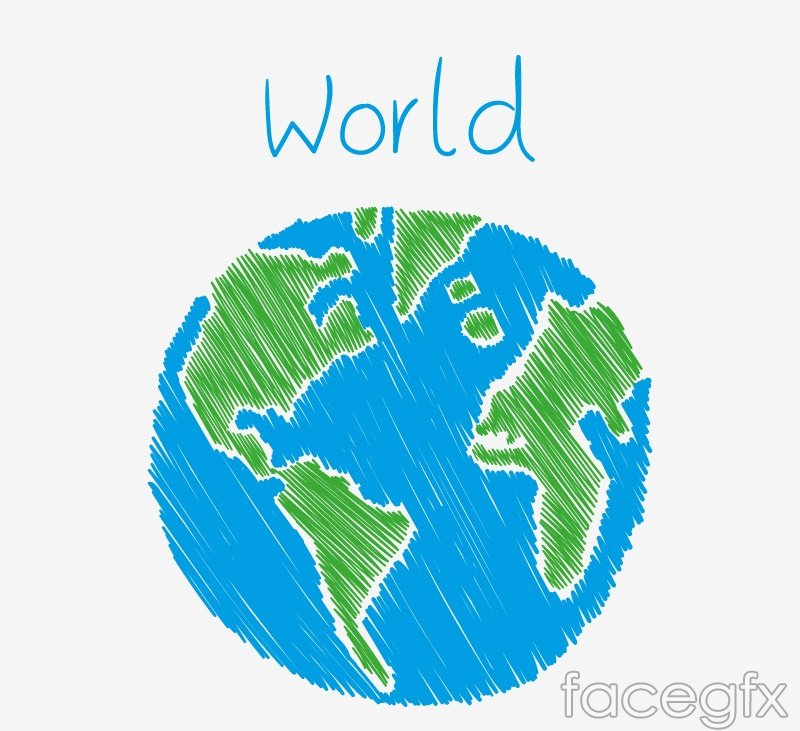 Painted blue Earth vector