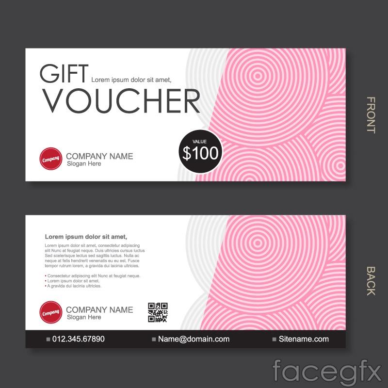 Pink gift certificate vector