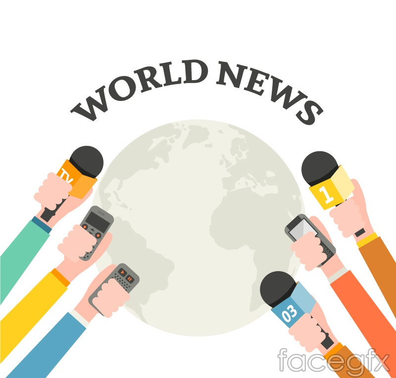 World News from the creative vector illustration