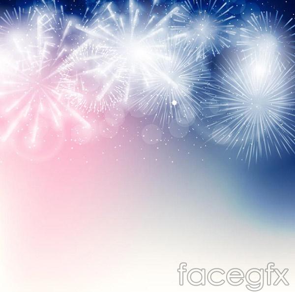 Fantasy Fireworks design vector