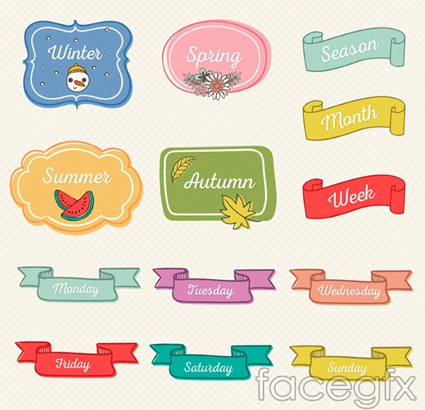 Hand-painted banners design vector