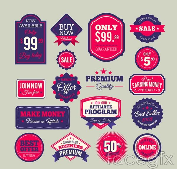 Spot sales tag vector