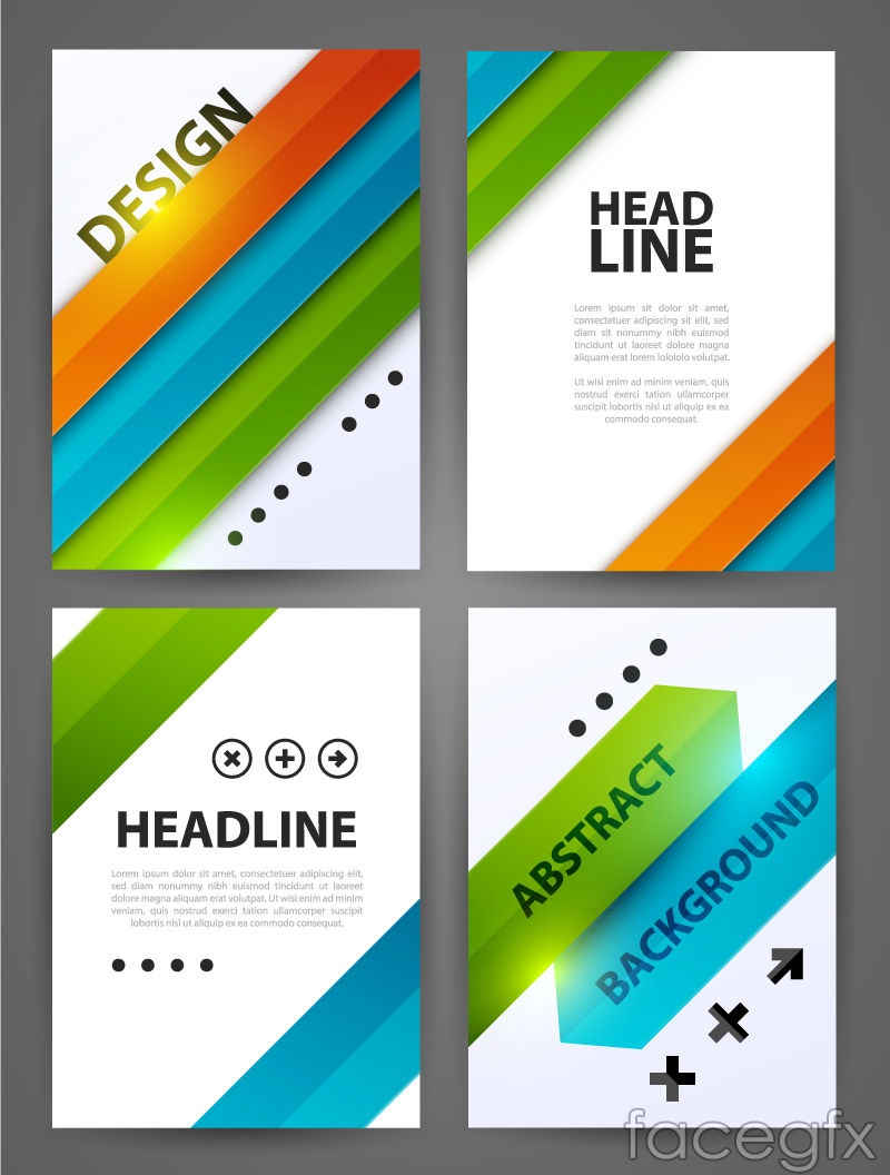 2 fashionable business flyer vector graphics