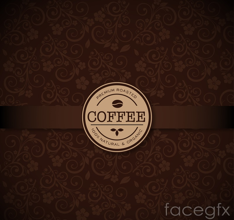 Beautiful pattern coffee background vector map