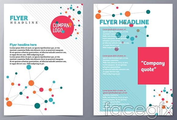 Flat style brochure vector