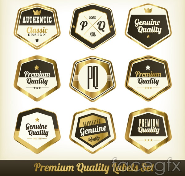 Gloss quality label vector