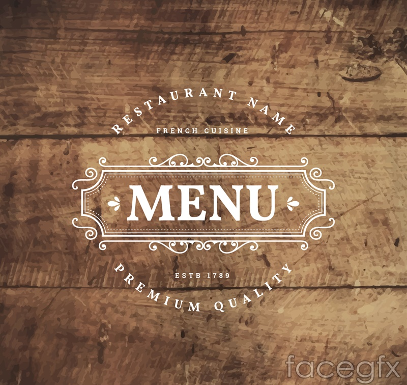 Menu printed on the Board logo vector