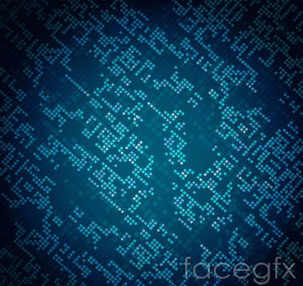 Tech squares background vector