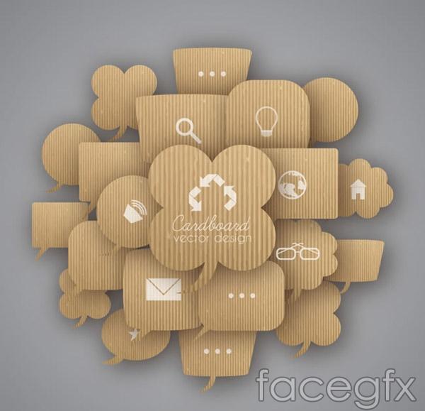 Corrugated language bubbles vector