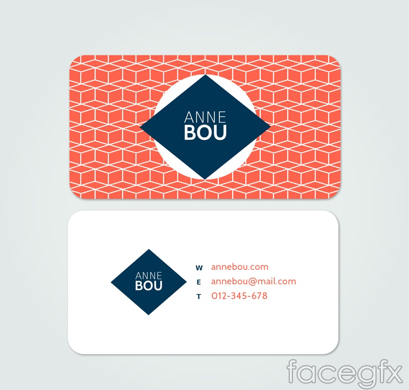 Fashion both sides of business cards vectors