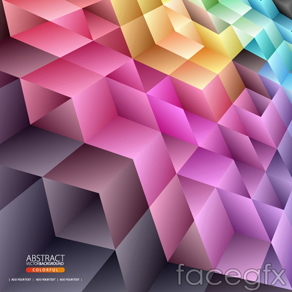 Fashion colorful geometric background vector