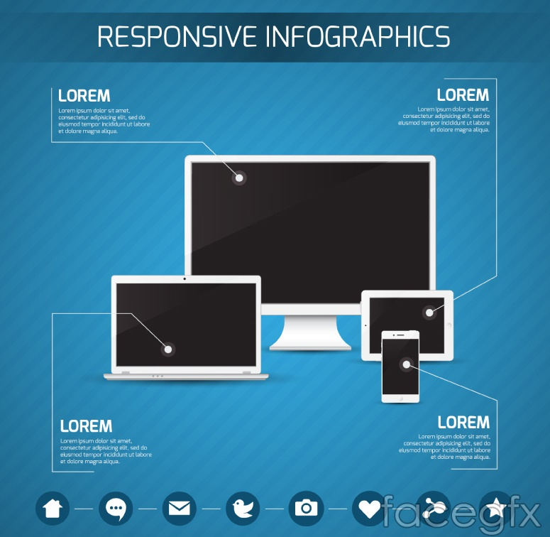 Fashion digital products business information vector charts
