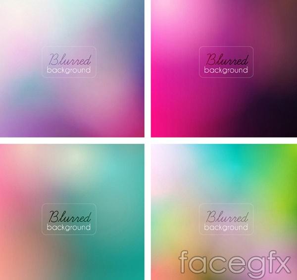 Fuzzy gradient background vector