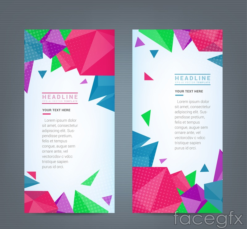 2 geometric business banner vector diagrams
