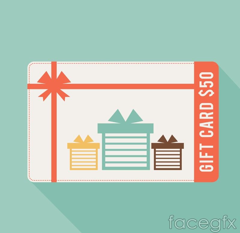 $ 50 gift card vector