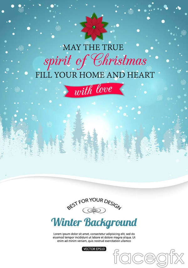 Christmas Snow poster vector