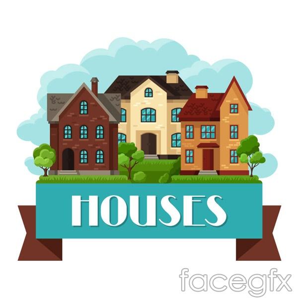 Flat House vector