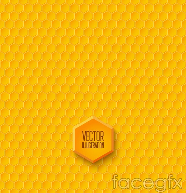 Honeycomb-shaped seamless background vector