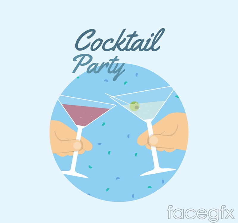 Creative cocktail party poster vector graphics