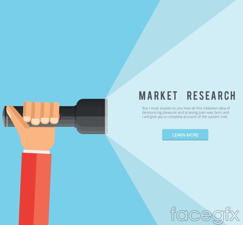 Creative market research vector illustration