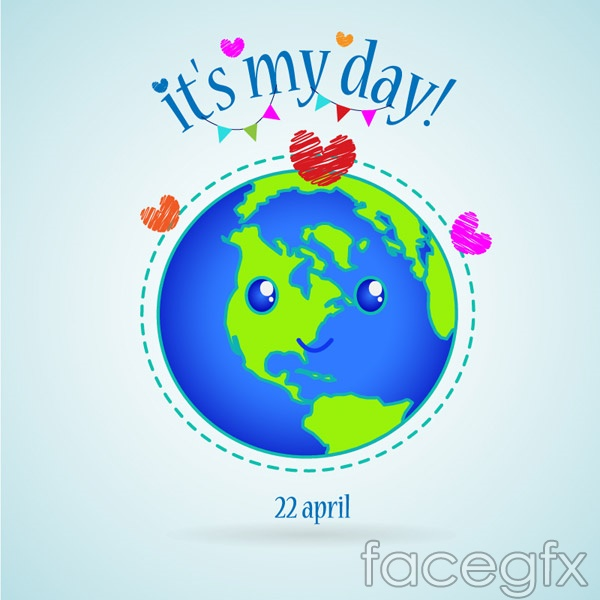 Doyusha quaint world Earth Day vector