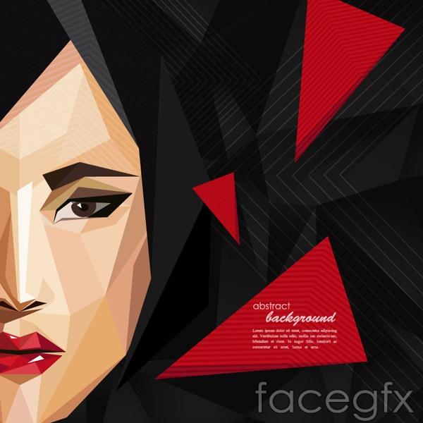 Fashion woman portrait design vector