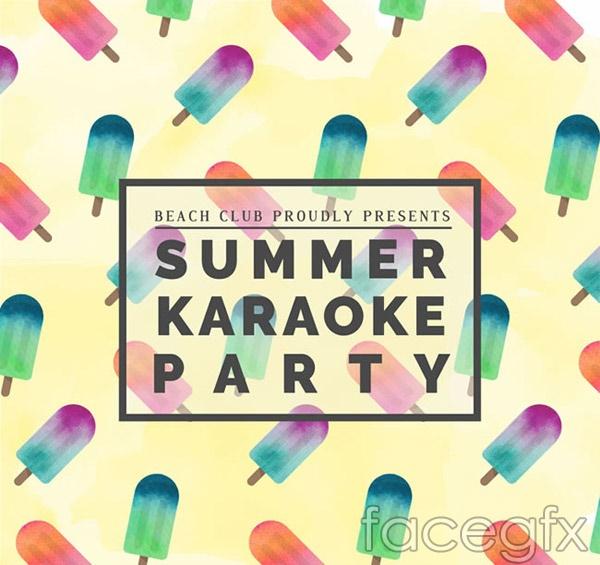 Kara OK summer party vector