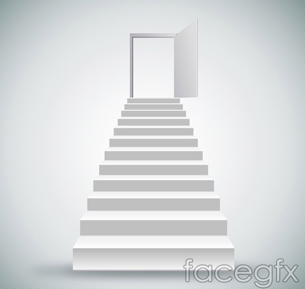 Leads to the door step vector