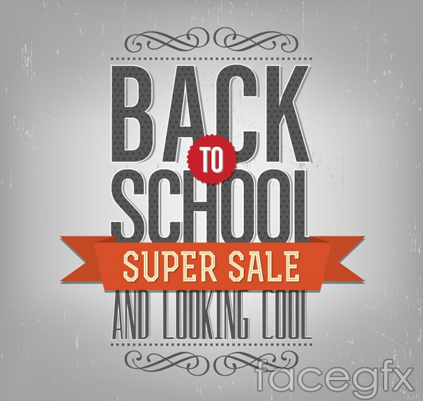Back to school promo posters vector