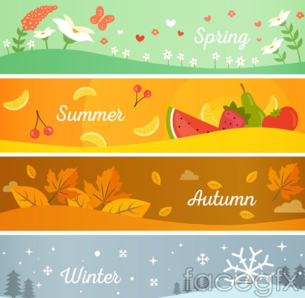 Four seasons BANNER vector