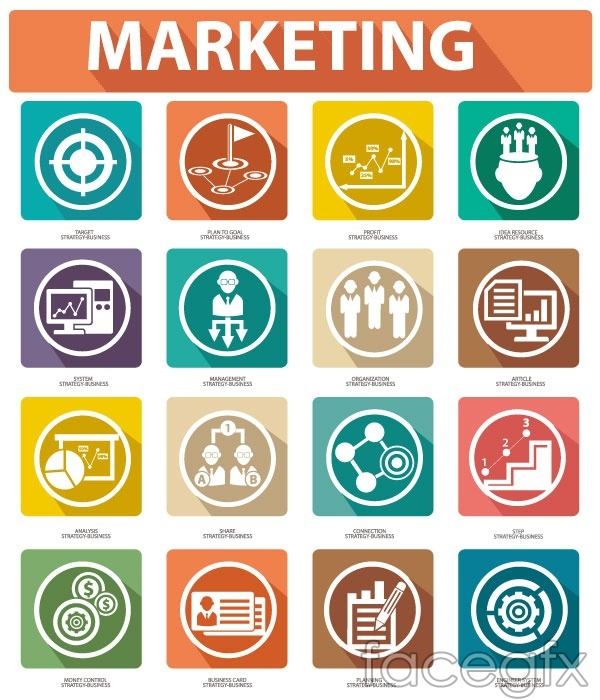 Business and marketing icon vector