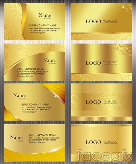 Fashion gold card card vector
