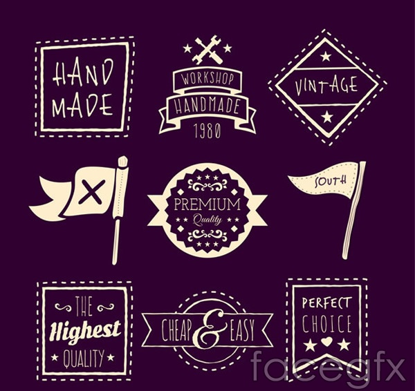 Handmade quality label vector
