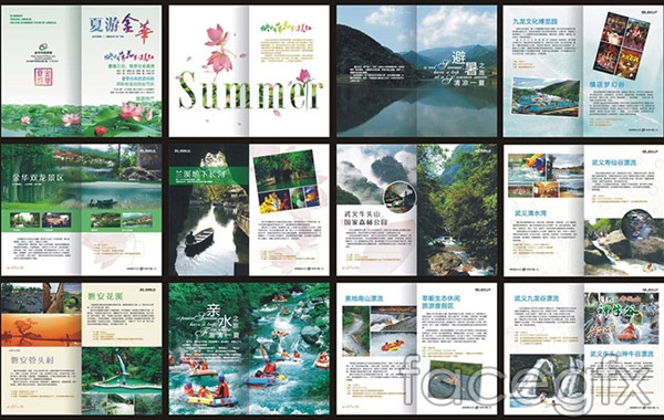 Summer travel pictures vector