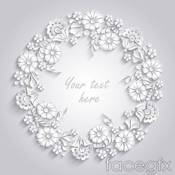 White paper wreath vector