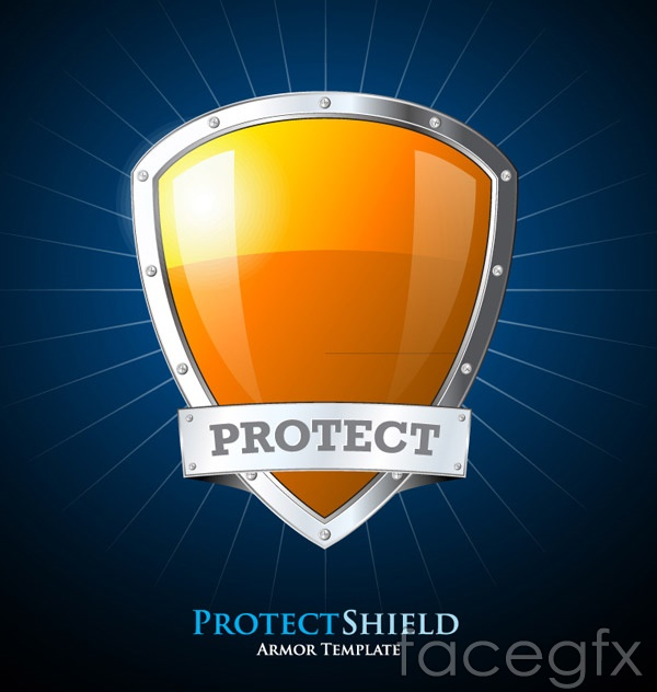 Creative Orange shield vector