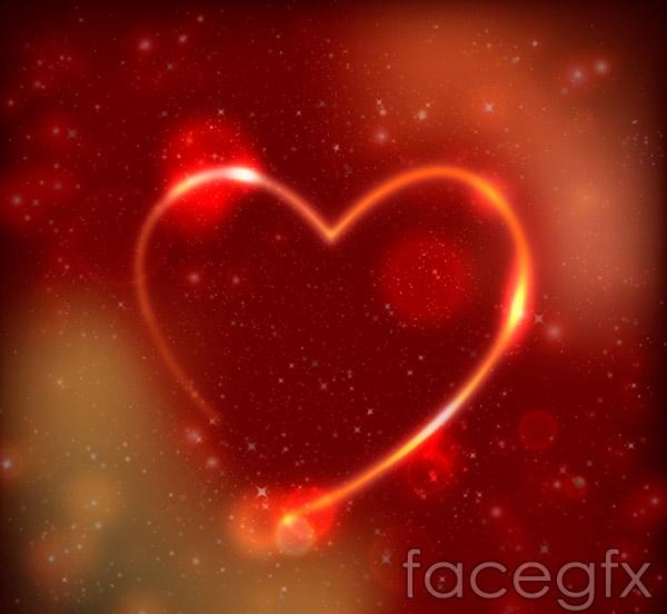 Dream light love vector