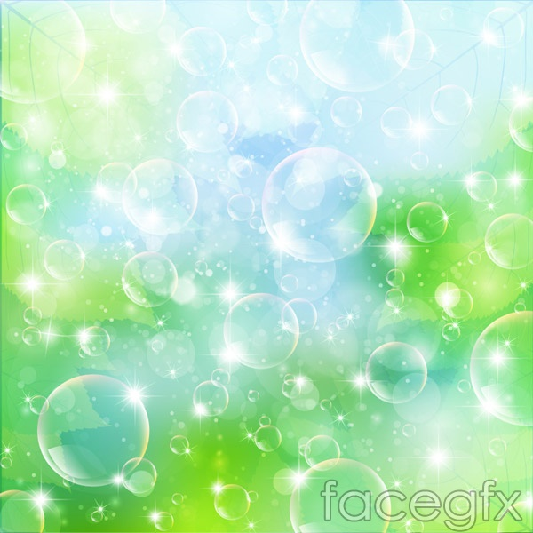 Dynamic background bubbles vector