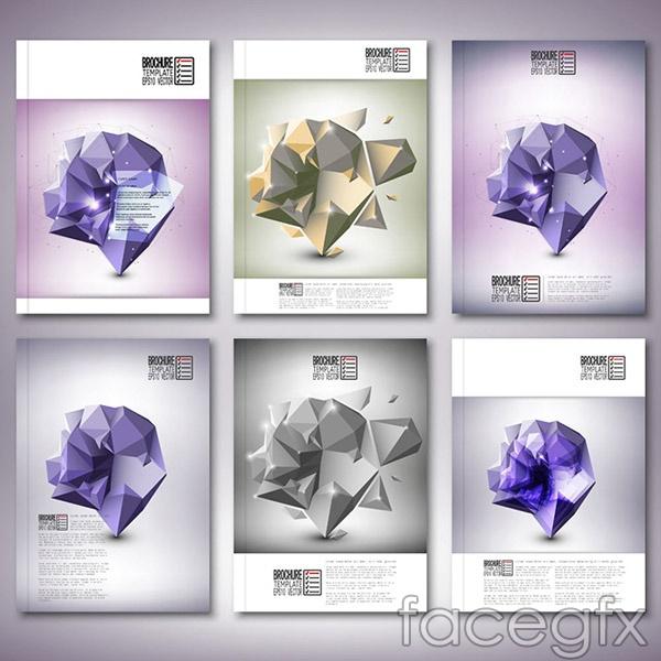 Polygon shapes album vector